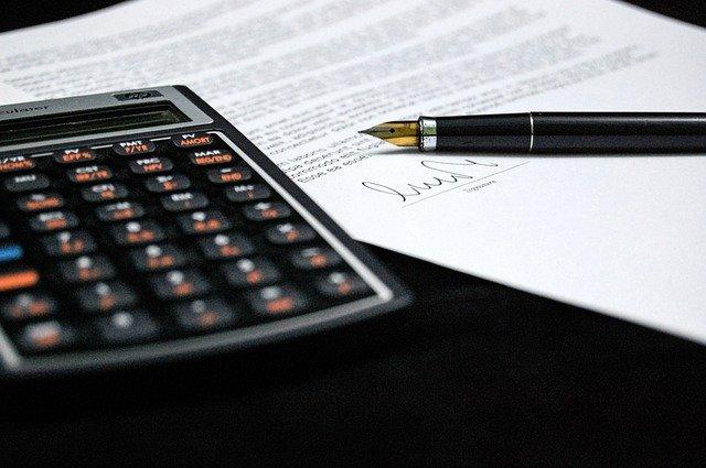 dokument a kalkulačka